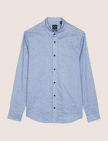ARMANI EXCHANGE REGULAR-FIT MICROPRINT SHIRT Long sleeve shirt [*** pickupInStoreShippingNotGuaranteed_info ***] r