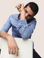 ARMANI EXCHANGE REGULAR-FIT MICROPRINT SHIRT Long sleeve shirt [*** pickupInStoreShippingNotGuaranteed_info ***] a