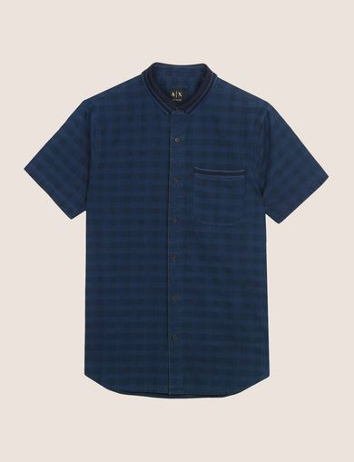 REGULAR-FIT OVERDYED GINGHAM SHIRT
