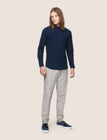 ARMANI EXCHANGE SLIM-FIT OVERDYED GINGHAM SHIRT Long sleeve shirt Man d