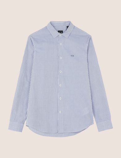 REGULAR-FIT STRIPED INSIGNIA SHIRT