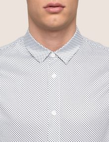 ARMANI EXCHANGE REGULAR-FIT MICROPRINT SHIRT Long sleeve shirt Man b