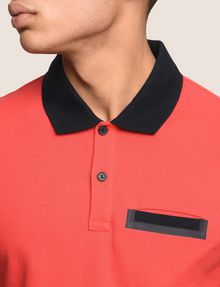 ARMANI EXCHANGE CONTRAST TIPPING CIRCLE LOGO POLO SHORT SLEEVES POLO [*** pickupInStoreShippingNotGuaranteed_info ***] b