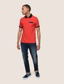ARMANI EXCHANGE CONTRAST TIPPING CIRCLE LOGO POLO SHORT SLEEVES POLO Man d