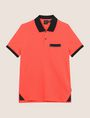 ARMANI EXCHANGE CONTRAST TIPPING CIRCLE LOGO POLO SHORT SLEEVES POLO Man r