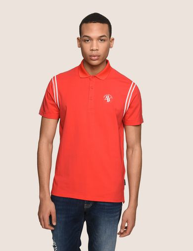 RAGLAN SLEEVE-STRIPE POLO