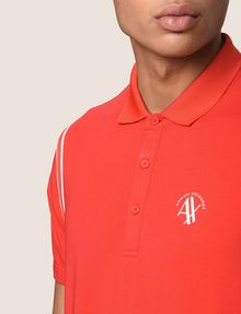 ARMANI EXCHANGE RAGLAN SLEEVE-STRIPE POLO SHORT SLEEVES POLO Man b