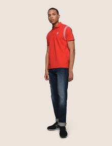 ARMANI EXCHANGE RAGLAN SLEEVE-STRIPE POLO SHORT SLEEVES POLO Man d