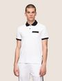 ARMANI EXCHANGE CONTRAST TIPPING CIRCLE LOGO POLO SHORT SLEEVES POLO Man f
