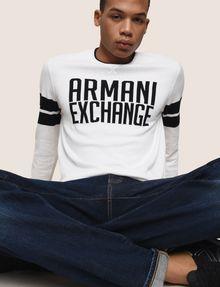 ARMANI EXCHANGE CREWNECK INTARSIA VARSITY SWEATER Crew Neck Man a