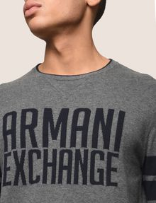 ARMANI EXCHANGE CREWNECK INTARSIA VARSITY SWEATER Crew Neck Man b