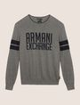 ARMANI EXCHANGE CREWNECK INTARSIA VARSITY SWEATER Crew Neck Man r