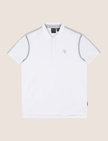 ARMANI EXCHANGE RAGLAN SLEEVE-STRIPE POLO SHORT SLEEVES POLO Man r