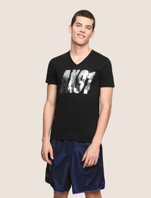 ARMANI EXCHANGE DOUBLE VISION FOIL TEE Logo T-shirt Man f