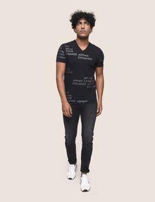 ARMANI EXCHANGE T-SHIRT MIT ALLOVER-METALLICLOGO Logo-T-Shirt Herren d