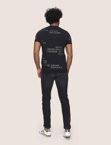 ARMANI EXCHANGE T-SHIRT MIT ALLOVER-METALLICLOGO Logo-T-Shirt Herren e