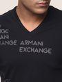 ARMANI EXCHANGE T-SHIRT MIT ALLOVER-METALLICLOGO Logo-T-Shirt Herren b