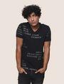 ARMANI EXCHANGE T-SHIRT MIT ALLOVER-METALLICLOGO Logo-T-Shirt Herren f