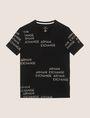 ARMANI EXCHANGE T-SHIRT MIT ALLOVER-METALLICLOGO Logo-T-Shirt Herren r
