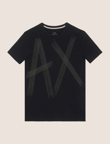ARMANI EXCHANGE ETCHED LOGO TEE Logo T-shirt Man r