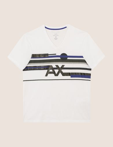 RETROFUTURE STRIPE LOGO TEE