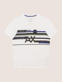 ARMANI EXCHANGE RETROFUTURE STRIPE LOGO TEE Logo T-shirt Man r