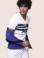 ARMANI EXCHANGE RETROFUTURE STRIPE LOGO TEE Logo T-shirt Man a