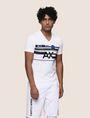 ARMANI EXCHANGE RETROFUTURE STRIPE LOGO TEE Logo T-shirt Man f
