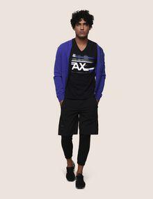 ARMANI EXCHANGE RETROFUTURE STRIPE LOGO TEE Logo T-shirt Man d