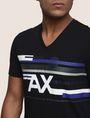 ARMANI EXCHANGE RETROFUTURE STRIPE LOGO TEE Logo T-shirt Man b