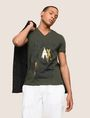 ARMANI EXCHANGE FOIL OVERLAY V-NECK TEE Logo T-shirt Man a