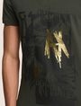 ARMANI EXCHANGE FOIL OVERLAY V-NECK TEE Logo T-shirt Man b