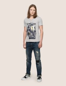 ARMANI EXCHANGE FOIL OVERLAY V-NECK TEE Logo T-shirt Man d