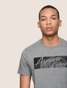 ARMANI EXCHANGE NEGATIVE SPACE PRINT TEE Logo T-shirt Man b