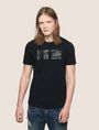 ARMANI EXCHANGE NEGATIVE SPACE PRINT TEE Logo T-shirt Man f