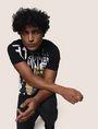 ARMANI EXCHANGE GRAFFITI CITYSCAPE FOIL TEE Logo T-shirt Man a