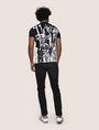 ARMANI EXCHANGE GRAFFITI CITYSCAPE FOIL TEE Logo T-shirt Man e