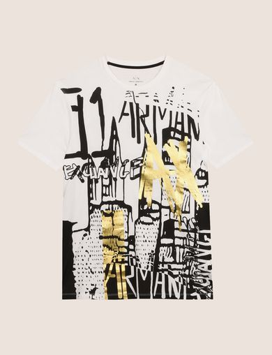 T-SHIRT MIT FOLIENGRAFFITTI