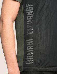 ARMANI EXCHANGE MESH OVERLAY LOGO TEE Logo T-shirt Man b