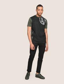 ARMANI EXCHANGE MESH OVERLAY LOGO TEE Logo T-shirt Man d