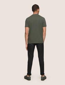 ARMANI EXCHANGE MESH OVERLAY LOGO TEE Logo T-shirt Man e
