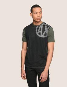 ARMANI EXCHANGE MESH OVERLAY LOGO TEE Logo T-shirt Man f