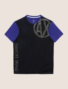 ARMANI EXCHANGE MESH OVERLAY LOGO TEE Logo T-shirt Man r