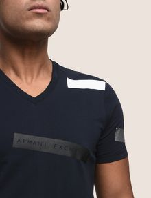 ARMANI EXCHANGE SCATTERED BLOCKS TEE Logo T-shirt Man b
