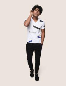 ARMANI EXCHANGE SCATTERED BLOCKS TEE Logo T-shirt Man d