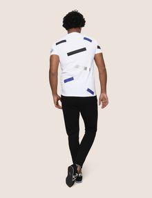 ARMANI EXCHANGE SCATTERED BLOCKS TEE Logo T-shirt Man e