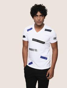 ARMANI EXCHANGE SCATTERED BLOCKS TEE Logo T-shirt Man f