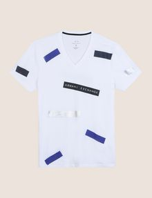 ARMANI EXCHANGE SCATTERED BLOCKS TEE Logo T-shirt Man r