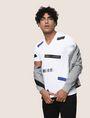 ARMANI EXCHANGE SCATTERED BLOCKS TEE Logo T-shirt Man a