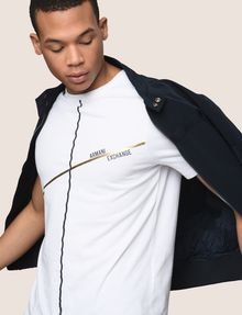 ARMANI EXCHANGE MINIMAL FOIL LINES TEE Logo T-shirt Man a
